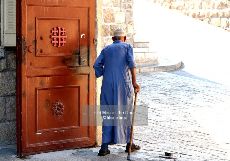 Old Man at the Door