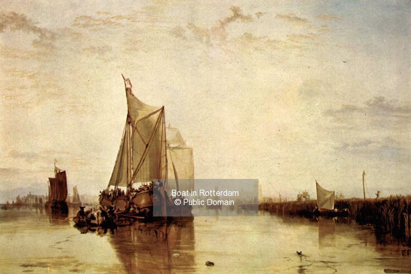 Boat in Rotterdam