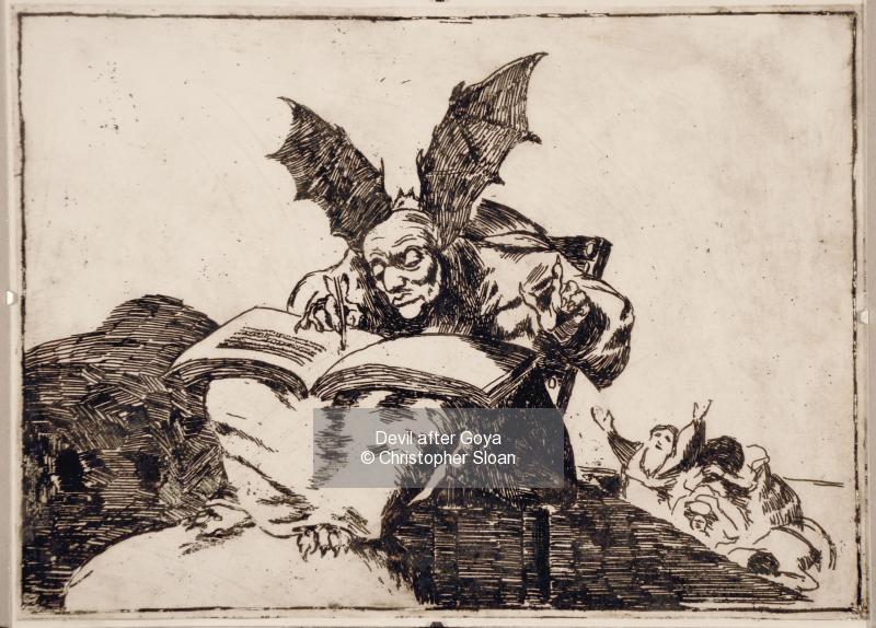 Devil after Goya
