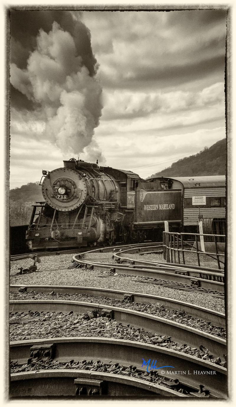 Steaming into the Station - Cumberland, MD
