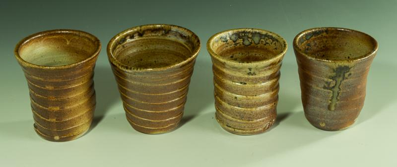 Set of 4 Wood Fired Whiskey Cups