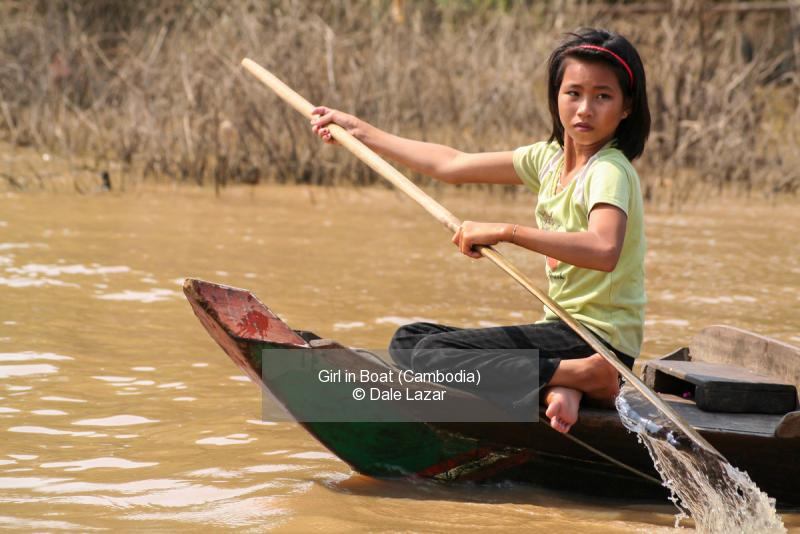 Girl in Boat (Cambodia)