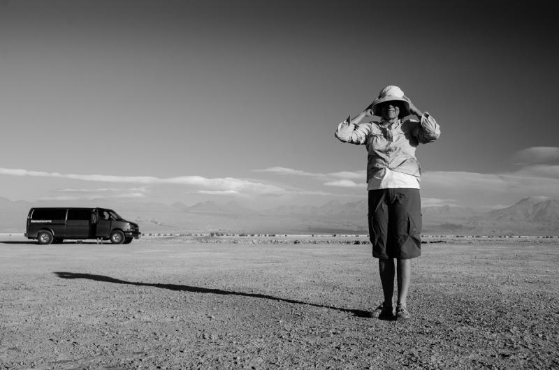 Woman in Atacama Desert (Chile)