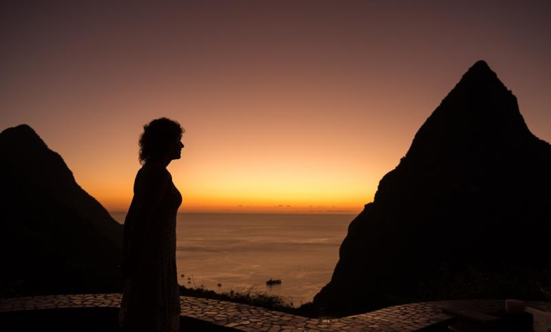 Woman at Sunset (St. Lucia)