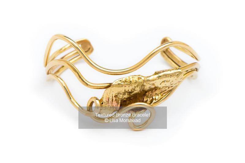 Textured Bronze Bracelet