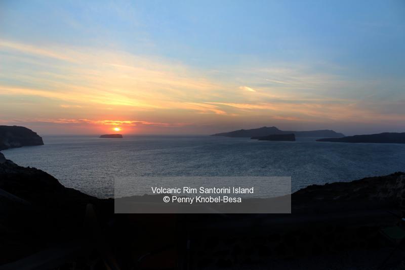 Volcanic Rim Santorini Island