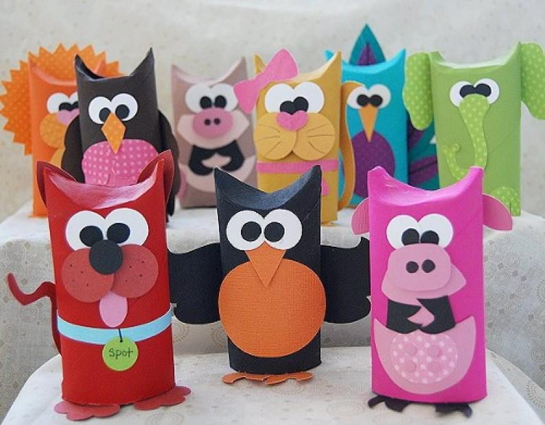 Игрушки из цветной бумаги своими руками