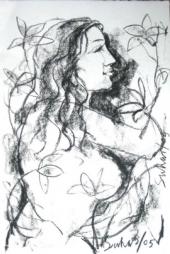 Radha with Lilies