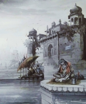 Sadhus at the Varanasi Ghats