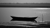 Solitary Boat on The Subarnarekha