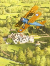 Boeing Stearman Kaydet over Athelhampton Hall