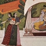 Krishna and Radha on the Pavillion