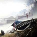 A Winter Morning at the Benares Ghats