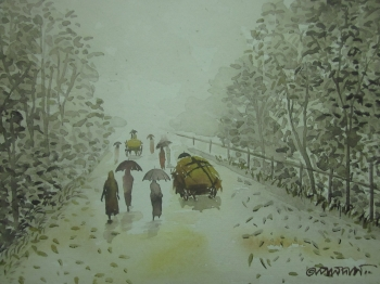 painting titled Rain