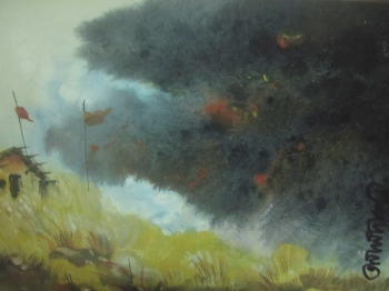 painting titled Monsoon