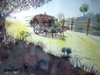 painting titled Return from the Field