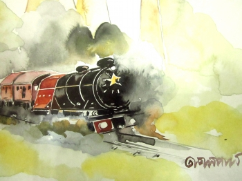 painting titled Train