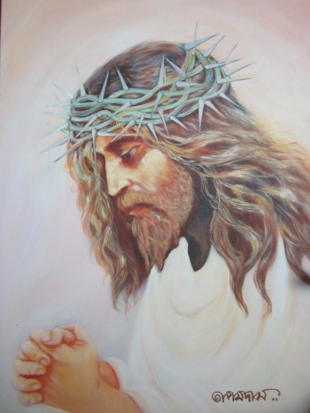painting titled Christ
