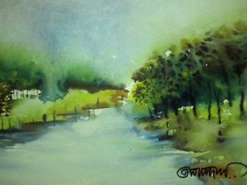 painting titled River