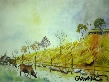 painting titled Rural Bengal