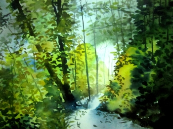 painting titled Path