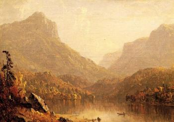 painting titled Lake Scene