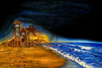 painting titled \'Nights at Rodanthe\'