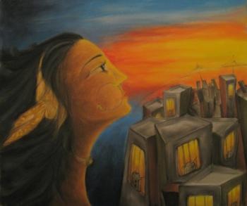 painting titled \'mahalaya\'