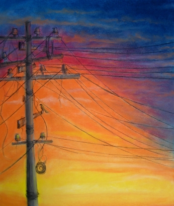 painting titled A sunset