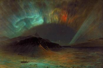 painting titled Aurora Borealis
