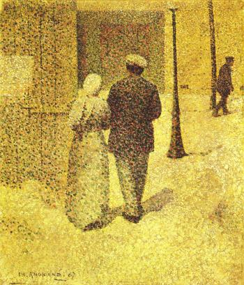 painting titled Man and Woman in the Street