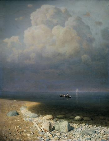 painting titled Lake Ladoga