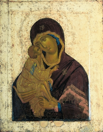 painting titled The Icon of the Virgin Mary of the Don