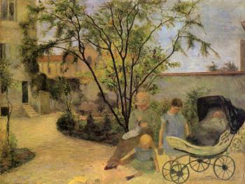 painting titled Garten in der Rue Carcel