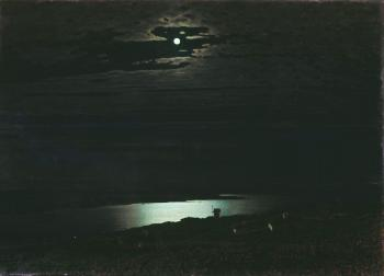painting titled Night on the Dnepr