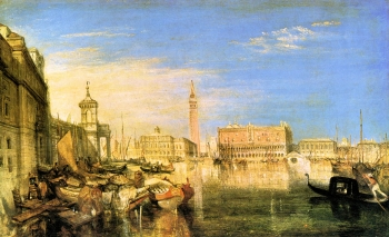 painting titled Bridge of Sighs, Ducal Palace and Custom-House, Venice