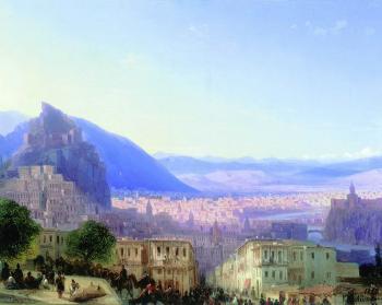 painting titled Tiflis