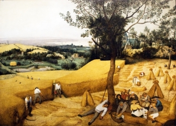 painting titled The Harvesters