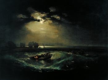 painting titled Fishermen at Sea