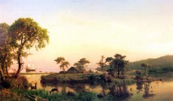 painting titled Gosnold at Cuttyhunk