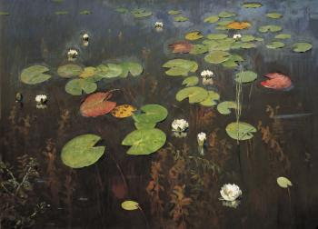 painting titled Water lilies