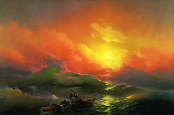 painting titled The Ninth Wave
