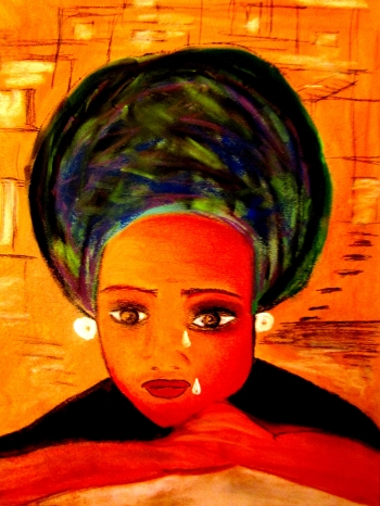 painting titled Africana