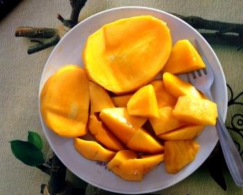painting titled Mango Mazaa