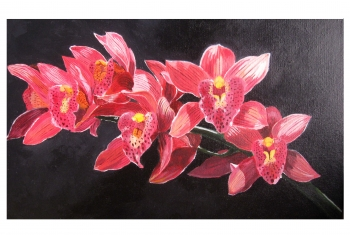 painting titled flowers