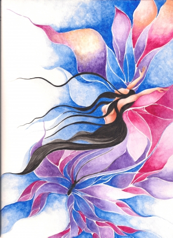 Watercolor on paper painting titled Heart and Soul