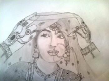painting titled Madhubala