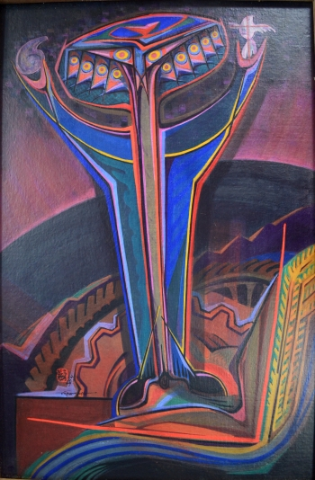 painting titled Today\'s Ravana