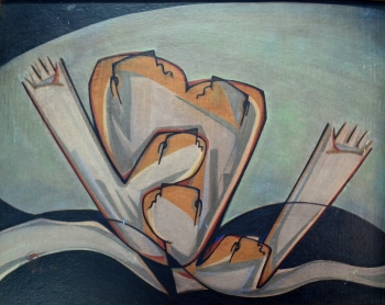 Watercolor on Canvas on Masonite Board painting titled Despair