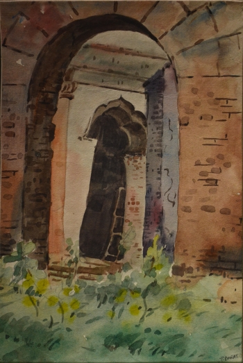 Watercolor on Poster Paper painting titled Palace Gates